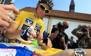 Porteur du maillot jaune après trois étapes lors du Tour de Bavière en mai, l'Irlandais Sam Bennett est l'actuelle lanterne rouge du Tour de France. Henning Angerer/Pixathlon