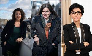 Agnès Buzyn, Anne Hidalgo et Rachida Dati, candidates à la mairie de Paris.