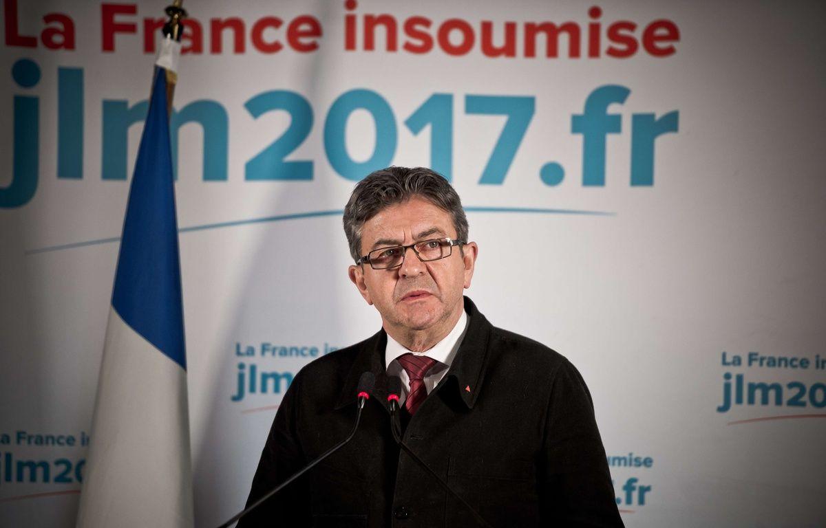 Jean-Luc Mélenchon s'exprime à l'issue du premier tour de la présidentielle, le 23 avril 2017. – SIPA