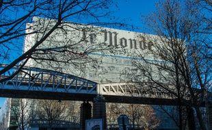 Le siège du quotidien «Le Monde» à Paris en janvier 2015.