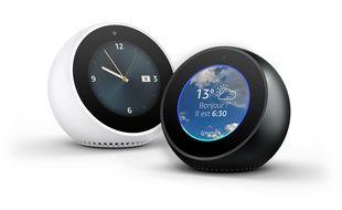 L'Amazon Echo Spot est disponible en blanc ou noir.