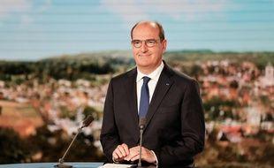 Le premier ministre Jean Castex sur le plateau du JT de 13h de TF1, mercredi 21 juillet