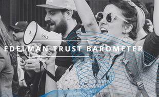 Depuis 18 ans, le « Trust Barometer » (« baromètre de confiance ») Edelman présente une évaluation de la confiance et de la crédibilité accordées par les citoyens du monde aux grandes institutions.