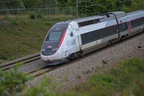 Un TGV roulant sur  sur la ligne du TGV Nord. (illustration)