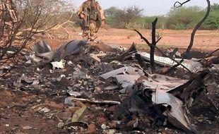 Le site du crash du vol d'Air Algérie, au Mali, le 25 juillet 2014.