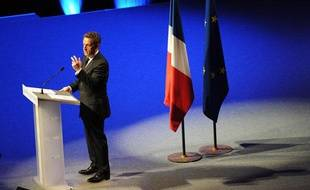NANTES, le 27/03/2012 Nicolas SARKOZY, président de la république lors d un meeting au zénith
