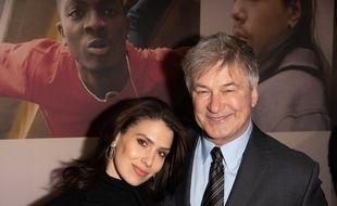 L'acteur Alec Baldwin avec sa femme Hilaria