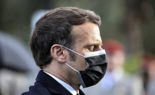 Emmanuel Macron lors du sommet franco-espagnol de Montauban.