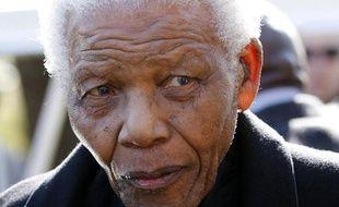 Nelson Mandela aux funérailles de son arrière-petite-fille