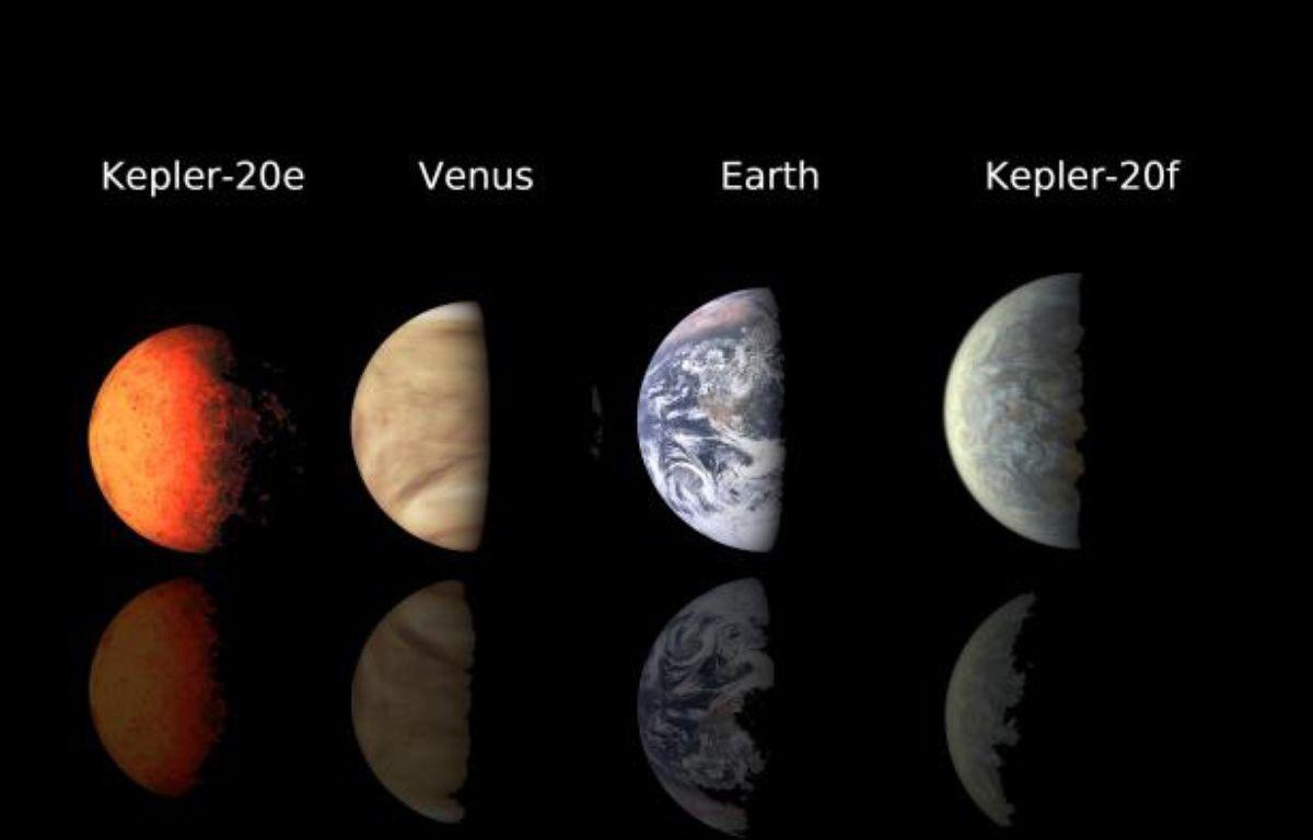 Kepler-20e et 20f, les deux premières exoplanètes d'une taille identique à celle de la Terre. – NASA/Ames/JPL-Caltech