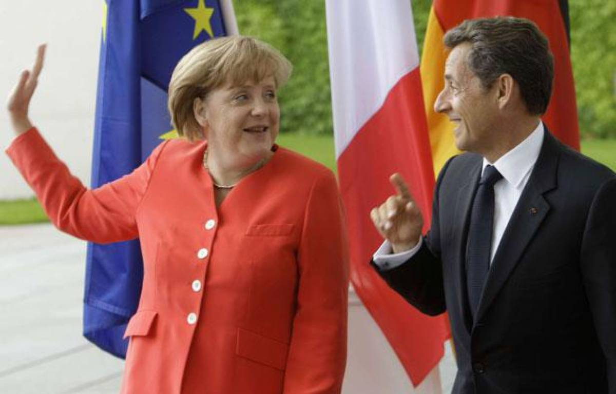 Angela Merkel et Nicolas Sarkozy à Berlin le 17 juin 2011. – Ferdinand Ostrop/AP/SIPA