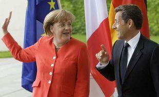 Angela Merkel et Nicolas Sarkozy à Berlin le 17 juin 2011.