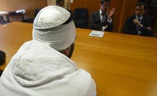 Une des victimes de l'agression de membres de la communauté juive, le 4 juin 2012 dans l'école Beth Menahem de Lyon Villeurbanne.