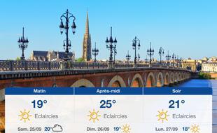 Météo Bordeaux: Prévisions du vendredi 24 septembre 2021