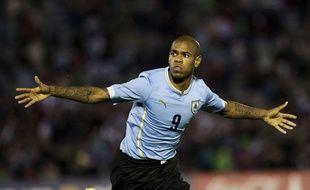 Diego Rolan, buteur face avec l'Uruguay face au Guatemala, le 6 juin 2015.