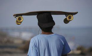 Illustration skateboar (AP Photo/Aaron Favila)/XAF104/229338470763/STAND ALONE/1410121135