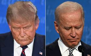 Donald Trump et Joe Biden lors du premier débat, le 29 septembre 2020.