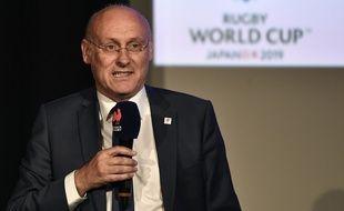 Bernard Laporte lors de la conférence de presse suivant l'annonce de la liste des 31 joueurs sélectionnés pour la Coupe du monde de rugby, le 2 septembre 2019.
