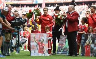 Philipp Lahm a disputé le dernier match de sa carrière, lors de Bayern Munich-Fribourg, le 20 mai 2017.