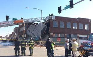 Capture d'écran vidéo Kansas City Star de l'accident survenu dans cette ville le 20 novembre 2014.