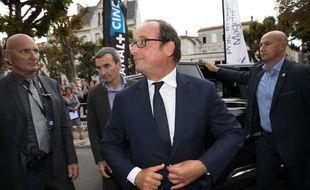 François Hollande au Festival d'Angoulême le 22 août 2017.