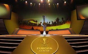 La scène du tirage au sort de l'Europa League
