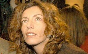 Kristina Rady au procès de son ex-mari Bertrand Cantat, le 16 mars 2004 à Vilnius