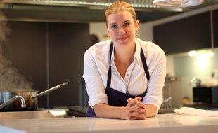 La cheffe Virginie Giboire, du restaurant Racines, à Rennes.