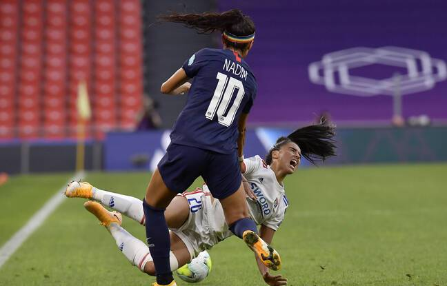 Ici de dos, Nadia Nadim s'est parfois illustrée par de grosses fautes, dans l'histoire des OL-PSG, comme sur Sakina Karchaoui lors de la demi-finale de Ligue des champions 2020 à Bilbao. Alvaro Barrientos