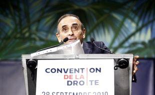 Le 28 septembre 2019, Eric Zemmour a fait un discours lors de la Convention de la droite, à Paris.