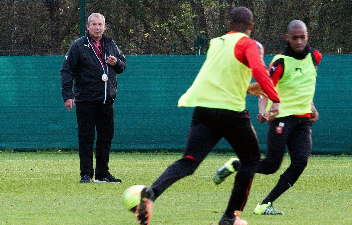 Rolland Courbis, ici lors d'une séance d'entraînement du Stade Rennais. – M. Pattier / Sipa