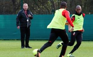 Rolland Courbis, ici lors d'une séance d'entraînement du Stade Rennais.