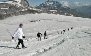 Samedi dernier, les joueurs de l'OL poursuivaient leur stageà Tignes, avec une séance de ski de fond.