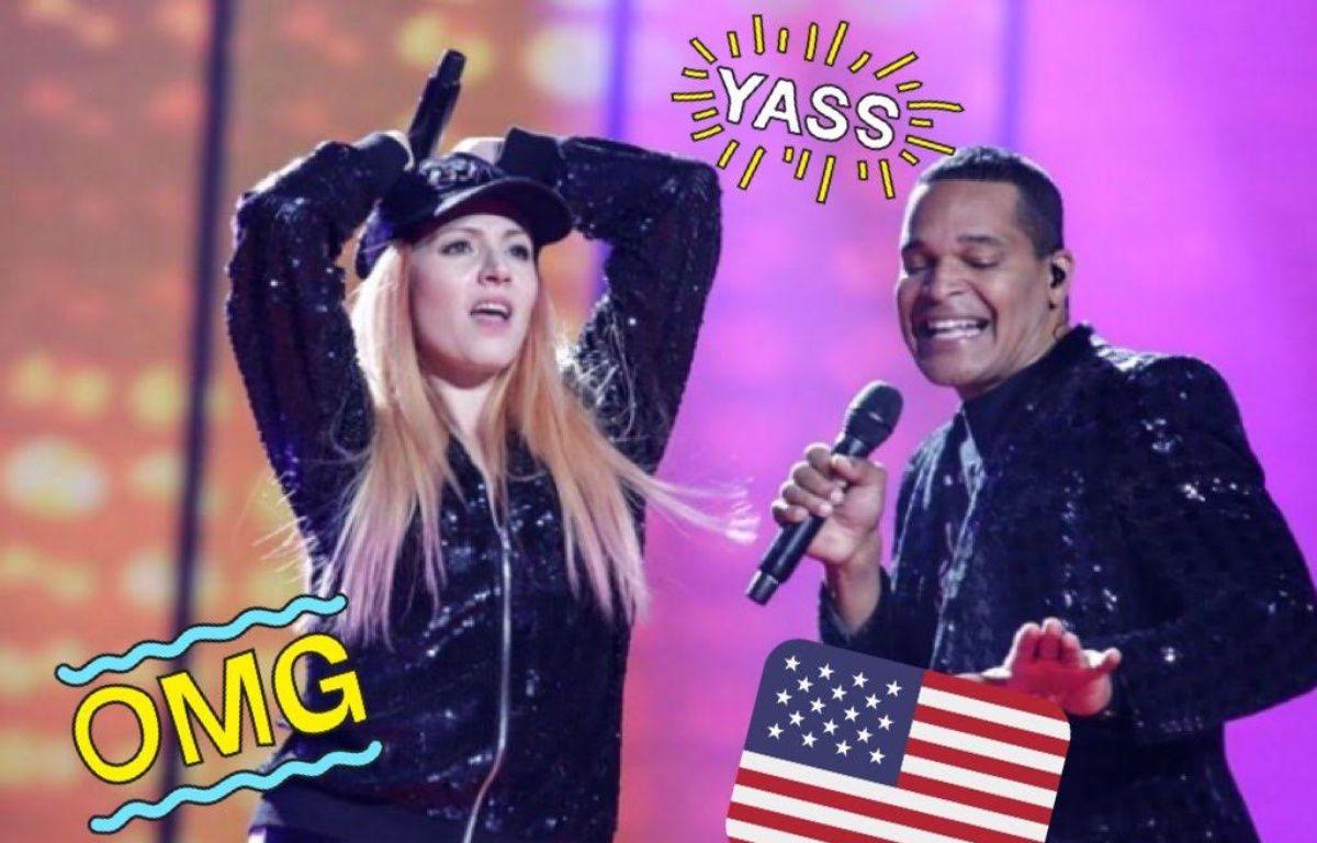 La Saint-Marinaise Valentina Monetta et l'Américain Jimmie Wilson représentent Saint-Marin à l'Eurovision 2017. – Thomas Hanses