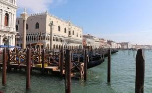 L'exposition de bijoux avait lieu au Palais des Doges, sur la fameuse place Saint-Marc de Venise.