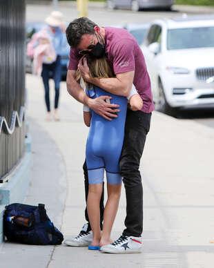 Ben Affleck et son fils Samuel, le 15 juin, à Los Angeles.