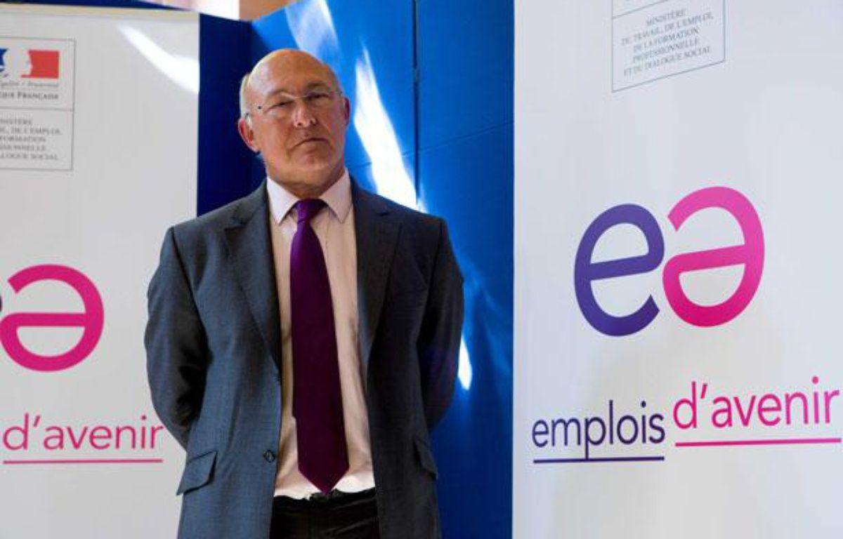 Michel Sapin, ministre du Travail, lors de la conférence de presse sur les emplois d'avenir. – REVELLI-BEAUMONT/SIPA