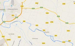 L'accident s'est produit dans la commune de Chaniers, située près de Chartres