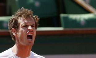 Andy Murray lors de sa défaite contre Djokovic en demi-finale de Roland-Garros, le 6 juin 2015.
