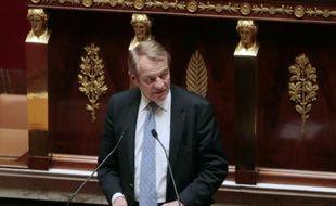 Le chef de file des députés PS de la commission des Finances, Dominique Lefebvre, à l'Assemblée nationale à Paris le 20 octobre 2015