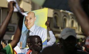 Affiche électorale de Karim Wade, le 23 avril 2013 à Dakar, au Sénégal.