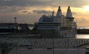 Illustration d'un ferry de la SNCM, le 6 janvier 2014 à Marseille.