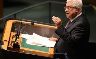 Mahmoud Abbas à la tribune du siège de l'ONU, à New York, le 29 novembre 2012.