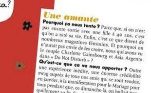 """L'article de ELLEpropose aux lectrices de prendre une amante pour """"la crédibilité swag"""""""