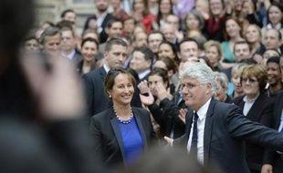 Ségolène Royal lors de la passation de pouvoir avec Philippe Martin le 2 avril 2014