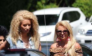 Iggy Azalea et Britney Spears sur le tournage du clip «Pretty Girls» le 9 avril 2015