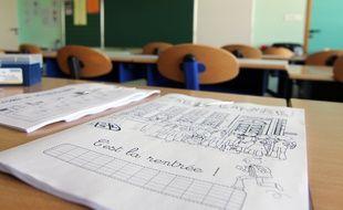 Illustration d'une rentrée des classes dans une école, ici à Rennes.