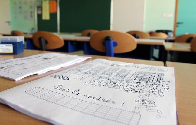 Illustration d'une salle de classe, ici à Rennes.