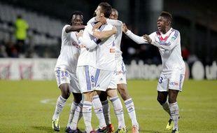 La joie des Lyonnais, le 18 décembre 2013 à Gerland.