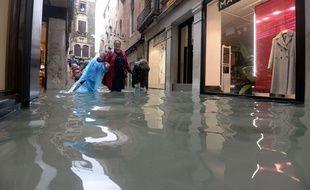 Venise sous les eaux, après la tempête en Italie, le 29 octobre 2018.